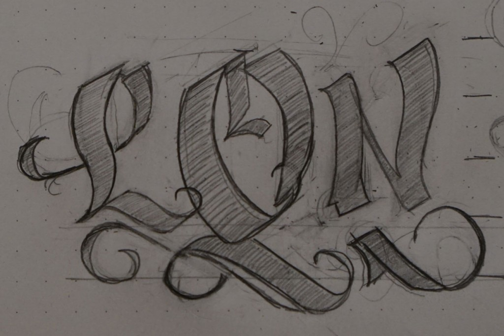 Initial sketch of... initials.
