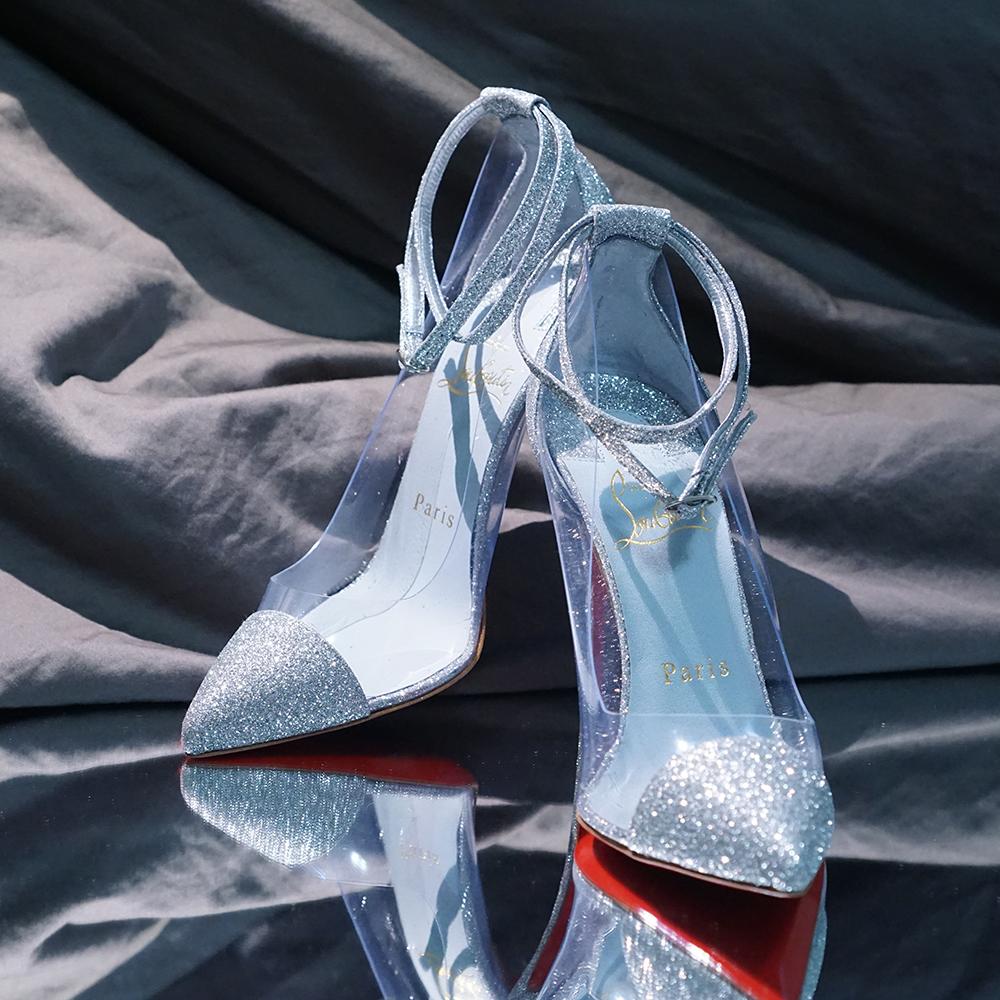 Custom Cinderella-Inspired Glitter Christian Louboutin