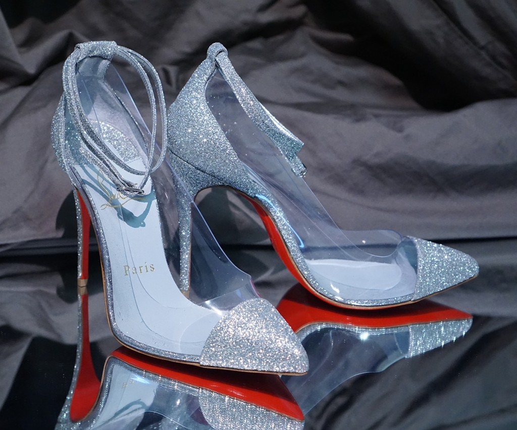 Custom Glitter Christian Louboutin Wedding Shoes